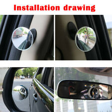 Car 360° Blind Spot Side Mirror Stick On Glass Adjustable Safety Lens 1PC