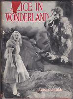 Lewis Carroll / Harry Rountree - Alice in Wonderland - 1939 in RARE Movie Jacket