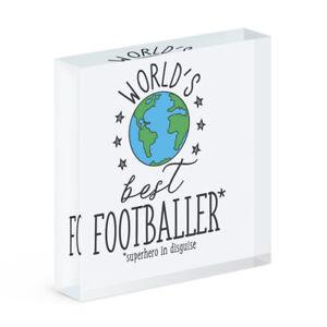 World's Best Fußballer Acryl Foto Block Rahmen Lustig Fußball Favorit