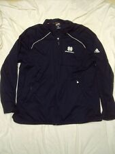 adidas Notre Dame Jacket Med Weight ClimaProof Adult Size Xxl Nwot!