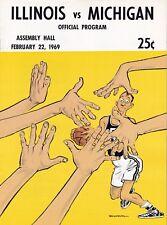 University of Illinois vs Michigan Wolverines 1969 College Basketball program