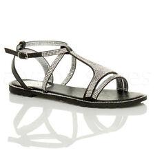 Sandali e scarpe slim nero tessile per il mare da donna