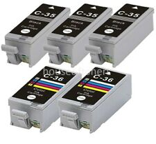 5pk Replacement PGI-35 CLI-36 Ink Cartridges for Canon PIXMA iP100 iP110