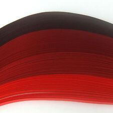 100 strisce di carta da Quilling in quattro tonalità di rosso-larghezza 5mm