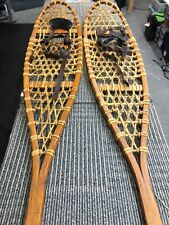 Set  Vintage Early TUBBS Wallingford VT Wooden Snowshoes #200  10x46