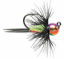 VMC Tungsten Bullfly Jig 1/64 oz Metallic Rainbow Pack of 2 Ice Fishing Jig