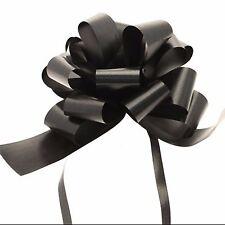 Ribbon Pull Bows 30 x31mm width Cabaret Black palm size pompom bows gifts decor