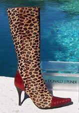 Donald Pliner Couture Peace Gator Leather Boot Shoe New Sz 6 Hair Calf NIB $795