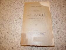 1919.Etudes liturgie et archéologie chrétienne.Pierre Batiffol