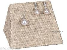BURLAP COMBINATION EARRING PENDANT MINI DISPLAY SET STACKABLE JEWELRY DISPLAYS