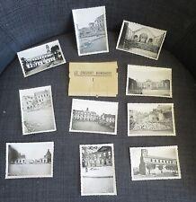 GUERRE 1939-45 ensemble de 10 photos Le Creusot bombardé en pochette