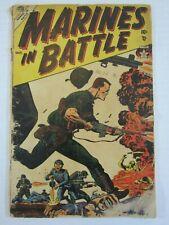 MARINES IN BATTLE #2 GD 1954 ATLAS/MARVEL CLASSIC RUSS HEATH WAR COVER! SCARCE!