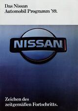 Nissan Automobil Programm Prospekt 1989 deutsch brochure catalog broszura