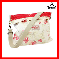 Cath Kidston Floral Fabric Cross Body Messenger Bag Cotton Beige Strawberry R3