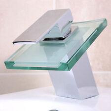 Wasserfall Glas Armatur Bad Design Chrom Einhebelmischer Waschtisch Wasserhahn