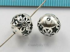 2x STERLING SILVER BRIGHT CHANDELIER CONNECTOR EARRINGS BEAD 13.8mm #1393