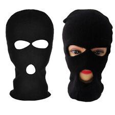 Unisex 3 Hole Ski Mask Black Knit Hat Face Shield Cap Snow Winter Warm Outdoor
