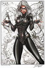 Jamie Tyndall Zenescope Comic Artist SIGNED Spiderman Art Print ~ Black Cat