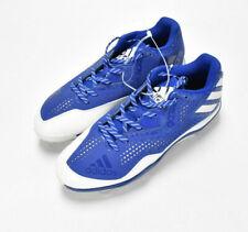 Adidas Mens Litestrike Cleats Sz 9.5 Blue White Ortholite Metal Baseball Shoes