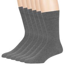 Men Bamboo 6 Pack Dress Comfortable Hypoallergenic Socks XLarge 13-15 Dark Grey