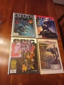 EPIC ILLUSTRATED MAGAZINE LOT 4 1981-1990 Fantasy Cholly Flytrap Comic Shop News