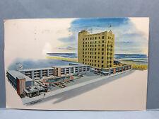 Seaside Hote Motel Pennsylvania Ave Boardwalk Atlantic City NJ Vtg Postcard 1961