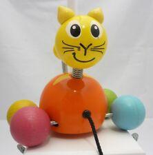 Vilac Jouet bois À rouler Chat Boule Orange Baby Pussy