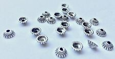 16 pieces - silver coloured bead cap with hole - 0.75 cm x 0.75 cm