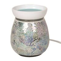 Blue Crackle Electric Wax Warmer/Burner & 10 Handpoured Scented Melts (3118)