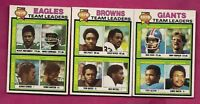 1979 TOPPS BROWNS + GIANTS + EAGLES  UNMARKED TEAM CHECKLIST (INV# A6151)