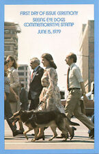 #1787 First Day Ceremony Program15c Seeing Eye Dog Stamp