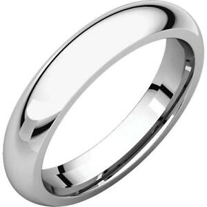 Georgia: 4mm Comfort Fit Domed 316 Stainless Steel Unisex Wedding Band