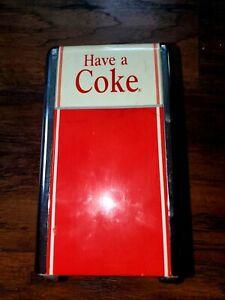 Vintage Coca Cola Napkin Holder Dispenser 1992 Red Chrome Works 50s Diner Coke
