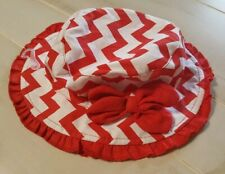 Chevron Bucket Hat Red And White 6 To 12 Months