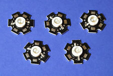5 x 5w 365nm UV Power ON LED Heatsink Dissipatore di calore emettitore 5mm mille franchi Money