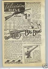 1940 PAPER AD Television Rifle Toy Play Big Bang Cannon Anti Aircraft Potato
