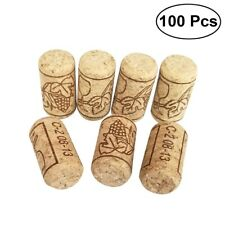 100pcs Natural Wine Bottle Tapered Straight Corks Stoppers Bungs Wooden Corks