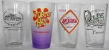 Mixed National Small Brewery beer pint glasses, pick any 4, your choice