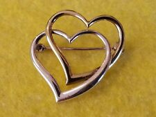 Silver double witches Heart's  brooch,stamped 925 MP.