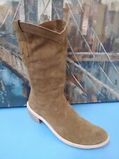 Diba* Tan Suede Leather COWGIRL-Western Boots Sz 38/7.5