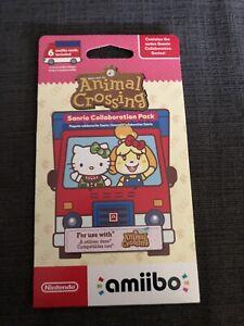 Animal Crossing Sanrio Collaboration Pack Hello Kitty Amiibo 6 Cards Sealed! NA