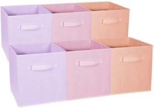Foldable Storage Cube Basket Bin - Great for Nursery, Playroom Closet & Shelves