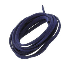 3x1.5mm bleu foncé ultra micro fibre Daim Plat Cordon 1 mètre (N81/4)