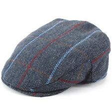 Flat Cap Hat Tweed Quilted Lining Blue Brown New Warm Winter Walking Hunting