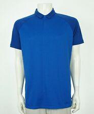 Nike Golf Dri-Fit Blue Dry Raglan Tech Golf Polo Shirt Mens Medium