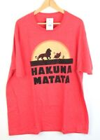Men's Authentic Disney's The Lion King Hakuna Matata Graphic Tee Shirt Size 2XL