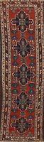 Pre-1900 Geometric Tribal Bakhtiari Runner Rug Hand-knotted Oriental 3x10 Carpet