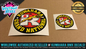 Kuwahara 1981 GRAND NATIONALS BMX Decal Sticker (Small & Large Combo)