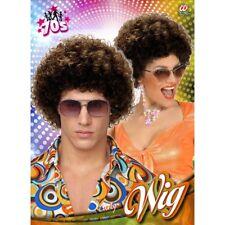 BRAUNE AFRO PERÜCKE # Karneval 70er 80er Jahre Hippie Damen Herren Kostüm 5979