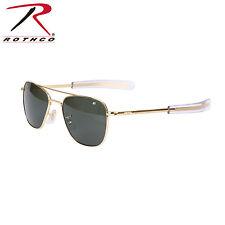10722 / 10724 American Optical Original Pilots Sunglasses - Gold/Green